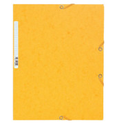 Sammelmappe Manila m.Gummizug gelb 24x32cm 425g