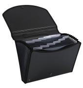 Fächermappe Exacase 55934E A4 mit 13 Fächern 13-teilig blanko Kunststoff schwarz