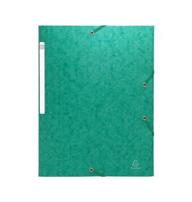 Eckspannmappe Scotten Manilakart grün 24x32cm 600g