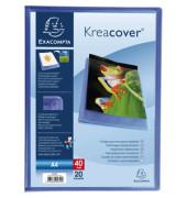 Sichtbuch Kreacover Chromaline 5722E blau A4 PP mit 20 Hüllen