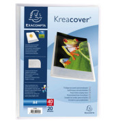 Sichtbuch Kreacover Chromaline 5728E transparent A4 PP mit 20 Hüllen