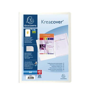 Sichtbuch Kreacover 58209E transparent A4 PP mit 20 Hüllen