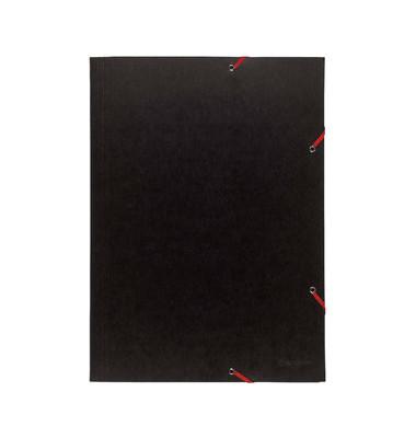 Eckspannmappe 59502E Premium A3 600g schwarz A3