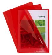 Sichthüllen 660575E, A4, rot, klar-transparent, glatt, 0,13mm, oben & rechts offen, PVC