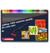 Faserschreiber Color Pen Set sortiert 3mm 40 St