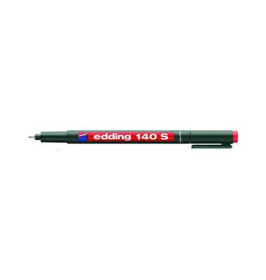 Folienstift 140 S rot 0,3 mm permanent