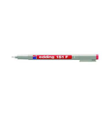 Folienstift 151 F rot 0,6 mm non-permanent
