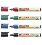 Permanentmarker 21 EcoLine 4er Etui farbig sortiert 1,5-3mm Rundspitze