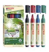 Permanentmarker 22 EcoLine 4er Etui farbig sortiert 1-5mm Keilspitze