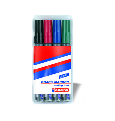 Boardmarker 250 4er Etui farbig sortiert 1,5-3mm Rundspitze