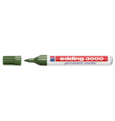 Permanentmarker 3000 olivgrün 1,5-3 mm Rundspitze