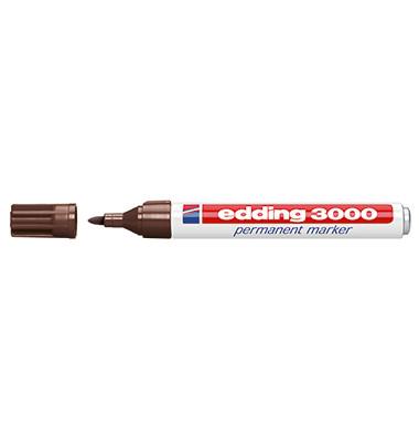 Permanentmarker 3000 dunkelbraun 1,5-3mm Rundspitze