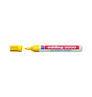 Permanentmarker 3000 gelb 1,5-3mm Rundspitze