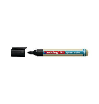 Flipchartmarker EcoLine 31 schwarz 1,5-3mm Rundspitze