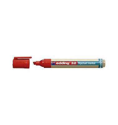 Flipchartmarker EcoLine 32 rot 1-5mm Keilspitze