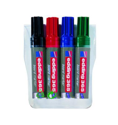 Boardmarker 365 4er Etui farbig sortiert 2-7mm Keilspitze