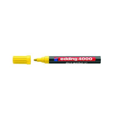Permanentmarker 4000 deco gelb 2-4 mm Rundspitze