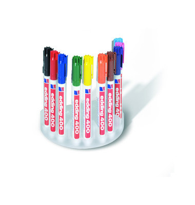 Permanentmarker 400 4er Etui farbig sortiert 1mm  Rundspitze