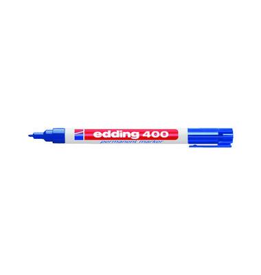 Permanentmarker 400 blau 1mm Rundspitze