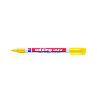 Permanentmarker 400 gelb 1mm Rundspitze