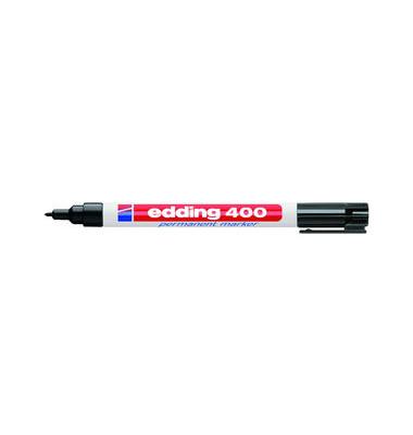 Permanentmarker 400 schwarz 1mm Rundspitze