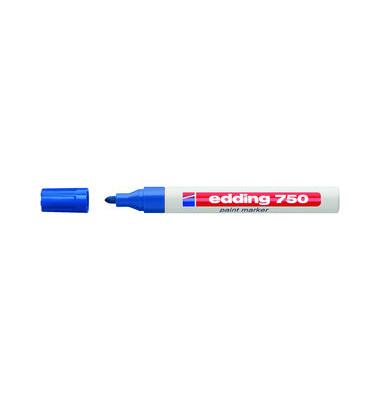 Lackmarker 750 blau 2-4mm Rundspitze