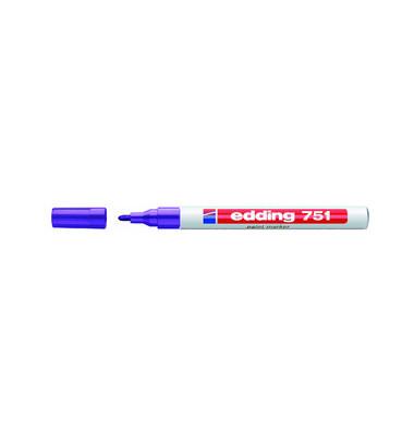 Lackmarker 751 violett 1-2mm Rundspitze
