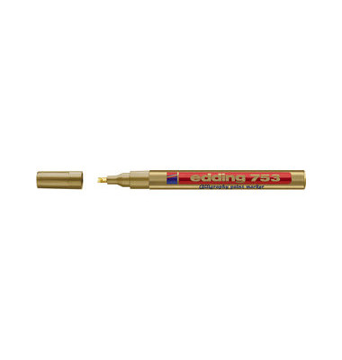 Lackmarker 753 calligraphy gold 1-2,5mm Keilspitze