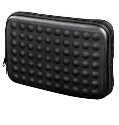 Navi-Tasche Dots 6 Zoll schwarz 18x2,5x11cm m.Reißv.