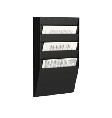 Sortiertafel quer 6 Fächer A4 schwarz Außenmaß:50,2x31,1x7,9