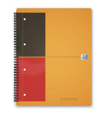 Collegeblock ACTIVEBOOK A4 weiß liniert gelocht 80 Blatt