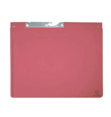 Pendelhefter 3532 A4 320g Karton rot 2x kaufmännische Heftung / Amtsheftung mit Tasche 25 Stück