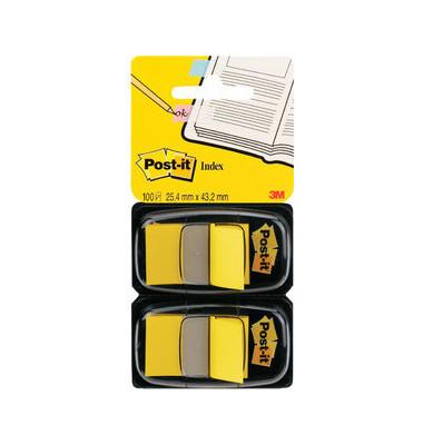Index Haftstreifen gelb 25x43mm 2 St
