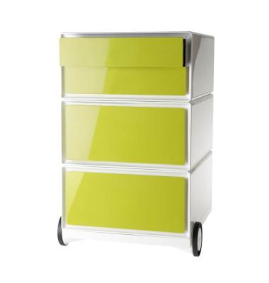 Rollcontainer easyBox, 2 Schübe, 1 Doppelschublade, weiß/grün