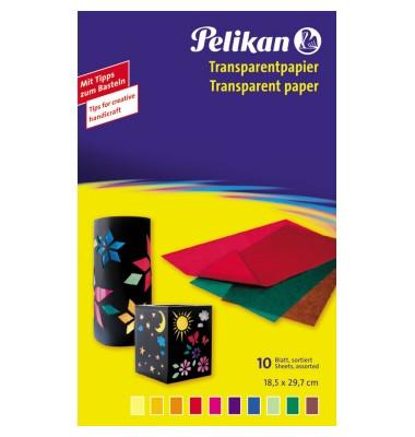 Transparentpapier sort.10BL transp.
