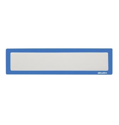 Infotasche für Überschrift blau A4q/A3h