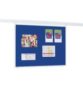 Pinnwand PROFESSIONAL  7-301554, 120x90cm, Textil, Aluminiumrahmen, blau