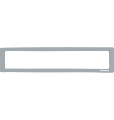 Infotaschen für Überschriften grau 312 x 60mm 5 Stück