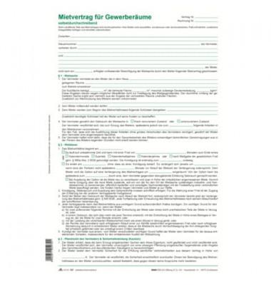 Gewerberaum-Mietvertrag 25St -SD-
