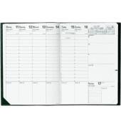 Buchkalender Prenote 1Woche/2Seiten geheftet schwarz A4 2021