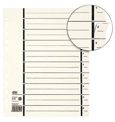 Trennblätter 06458 A4 200g chamois 100 Blatt Kraftkarton Recycling perforierte Taben