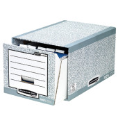 Schubladen-Archivbox für A4 grau/weiß 330x290x535 Karton