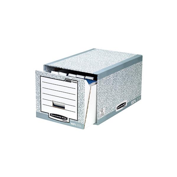 fellowes schubladen archivbox f r a4 grau wei 330x290x535. Black Bedroom Furniture Sets. Home Design Ideas