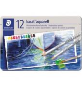 125 M12 12er Etui Aquarellstiftetui Karat sort.