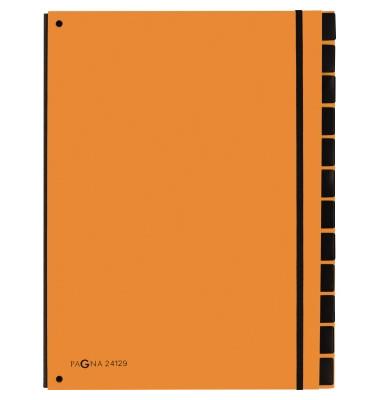 Pultordner Trend 24129 A4 blanko orange 12-teilig