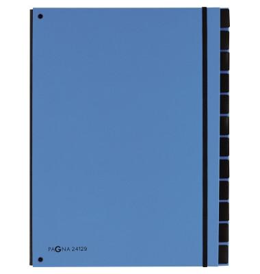 Pultordner Trend 24129 A4 blanko blau 12-teilig