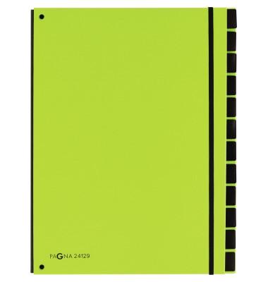 Pultordner Trend 24129 A4 blanko lindgrün 12-teilig