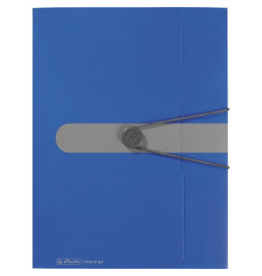 Sammelmappe easy orga 11205994, A4 Kunststoff, für ca. 300 Blatt, blau
