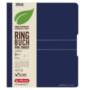 11282605 easy orga Ringmappe A4/2R/25mm d.blau