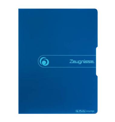 Zeugnismappe easy orga to go 11208360 blau A4 mit 20 Hüllen